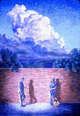 Red Brick Wall Art Print by Dan Terry