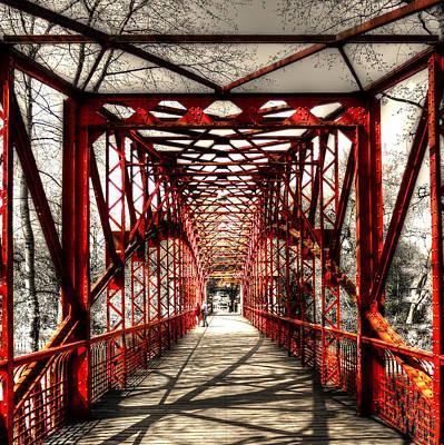 Photograph - Red Bridge by Alexander Drum