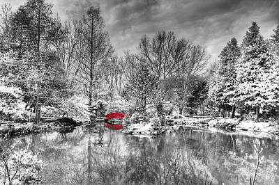 Photograph - Red Bridge by Alexey Stiop