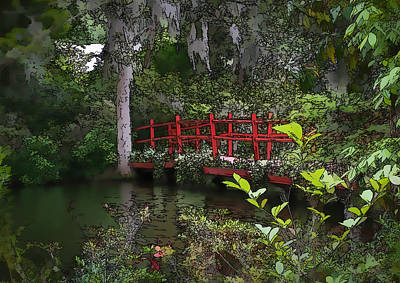 Photograph - Red Bridge  by Mary Underwood