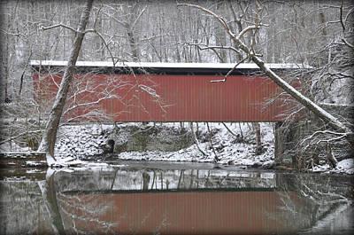 Red Bridge Over The Wissahickon Creek Art Print