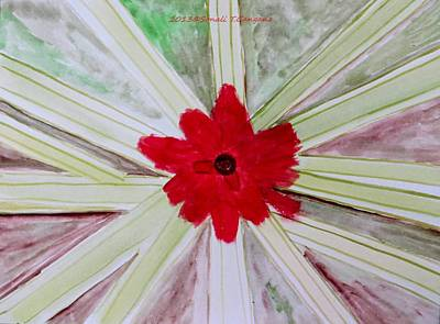 Red Brilliance Art Print by Sonali Gangane