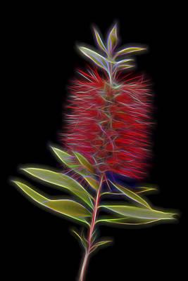 Red Brush Glow Art Print