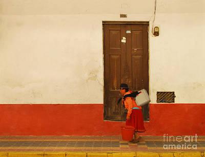Mosaico Photograph - Red Bucket by Eduardo Mora