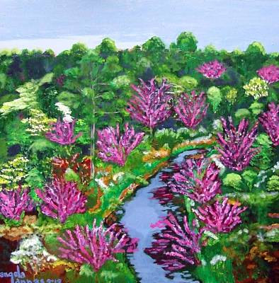 Painting - Red Bud Fire by Angela Annas
