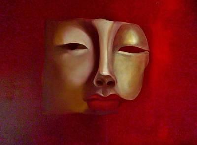 Tibetan Buddhism Painting - Red Buddha by Stasia  Fisher