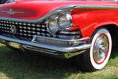 Photograph - red Buick closeup by Mark Spearman
