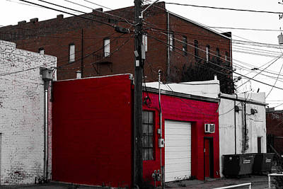 Red Building Art Print by Nathan Hillis