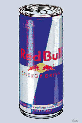 Red Bull Ode To Andy Warhol Print by Tony Rubino