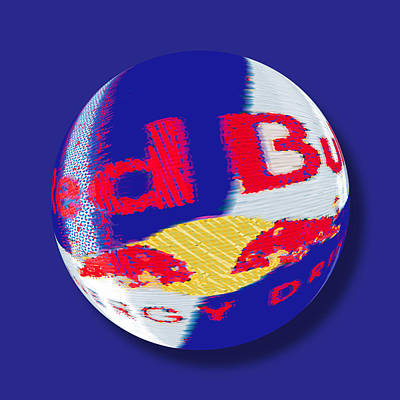 Painting - Red Bull Orb by Tony Rubino