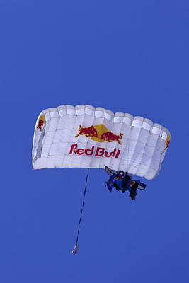 Photograph - Red Bull Parachute Jumper by Donna Corless