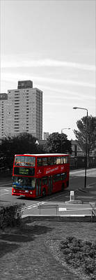 Photograph - Red Bus by Helene U Taylor