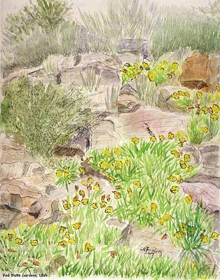 Painting - Red Butte Gardens by Linda Feinberg