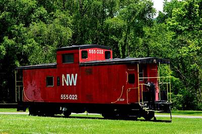 Photograph - Red Caboose by Cathy Shiflett