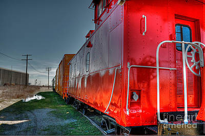 Caboose Photograph - Red Caboose by Hilton Barlow