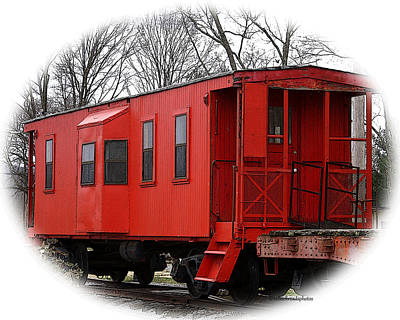 Photograph - Red Caboose by TnBackroadsPhotos