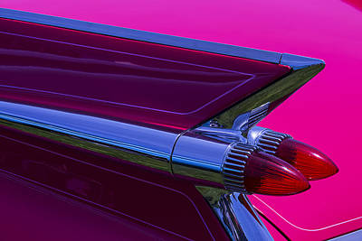 1959 Cadillac Photograph - Red Caddy Tail Lights by Garry Gay