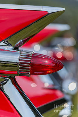 Cadillac Photograph - Red Cadillac Fins by Edward Fielding