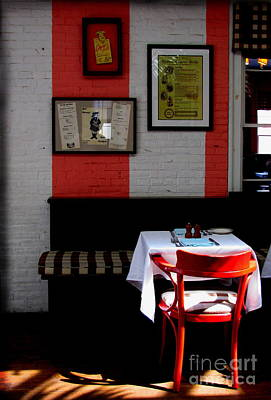 Photograph - Red Cafe by Colleen Kammerer