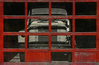 Heavy Equipment Digital Art - Red Cage by Jeff  Gettis