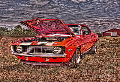 Red Camaro Art Print by Jim Lepard