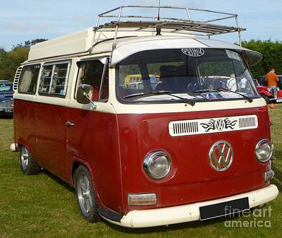 Sheep - Red Camper Van by Vicki Spindler