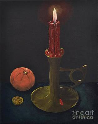 Painting - Red Candle by Melvin Turner