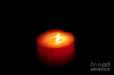 Photograph - Red Candle by William Voon