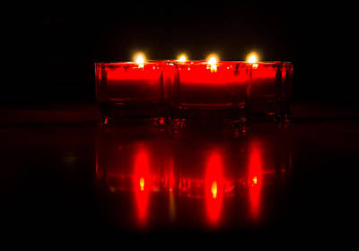 Photograph - Red Candles by Jonny D