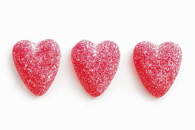Photograph - Red Candy Hearts by Elena Elisseeva