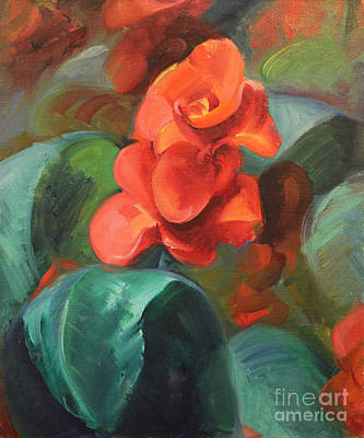 Red Canna Original by Art By Tolpo Collection