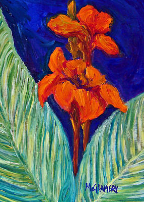 Red Canna Lilies Art Print by Betty McGlamery