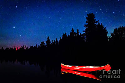 Photograph - Red Canoe I by Lori Dobbs