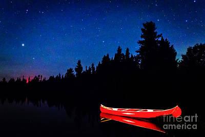Red Canoe I Art Print