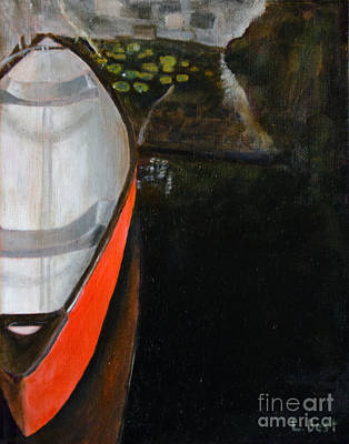 Painting - Red Canoe by Laurel Best