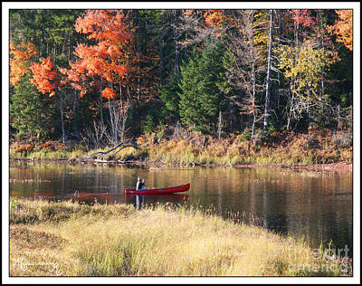 Photograph - Red Canoe by Mariarosa Rockefeller