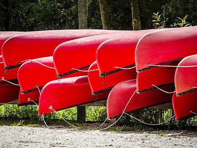 Photograph - Red Canoes by Carolyn Marshall