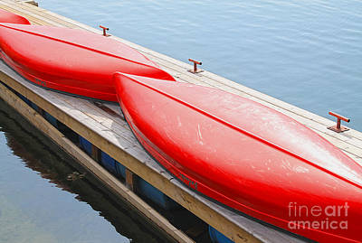 Photograph - Red Canoes by Nina Silver