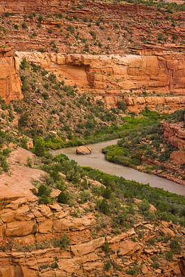 Kim Baker Photograph - Red Canyon Bend by Kim Baker