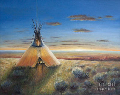 Indian Tribal Art Painting - Red Canyon by Kathy Weigand