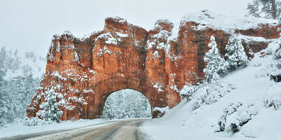 Digital Art - Red Canyon Tunnel by Lori Deiter