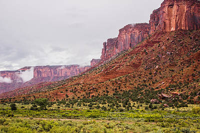 Kim Baker Photograph - Red Canyon Valley Walls by Kim Baker