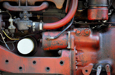 Photograph - Red Car Engine  by Staci Bigelow