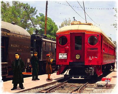 Red Car Long Beach And San Pedro Art Print