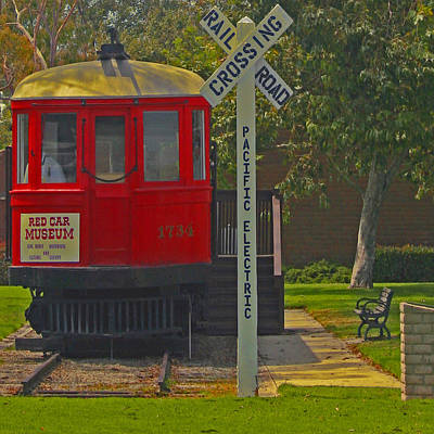 Photograph - Red Car Museum In Seal Beach Ca by Ben and Raisa Gertsberg