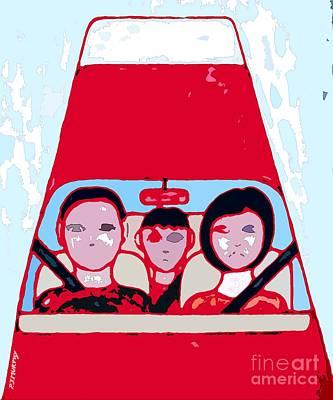Red Car Art Print by Patrick J Murphy