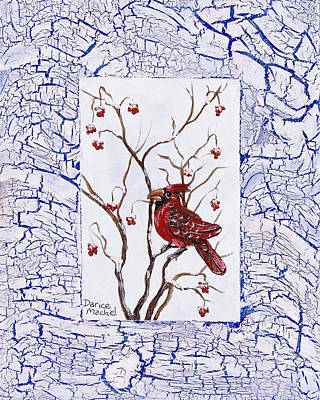 Painting - Red Cardinal by Darice Machel McGuire