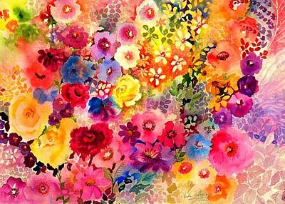 Carnations Painting - Red Carnation by Neela Pushparaj
