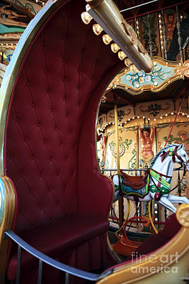 Photograph - Red Carousel Chair by John Rizzuto