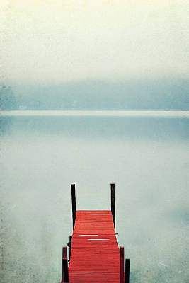 Dock Photograph - Red by Carrie Ann Grippo-Pike